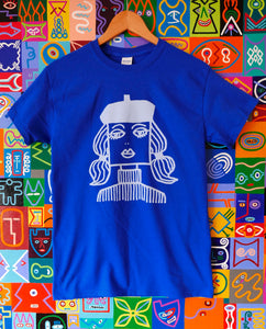 Beatnik,  blue, short sleeve Royal Blue T Shirt size MEDIUM