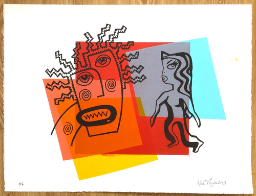 SOLD Orpheus and Eurydice artist proof print number two 2009