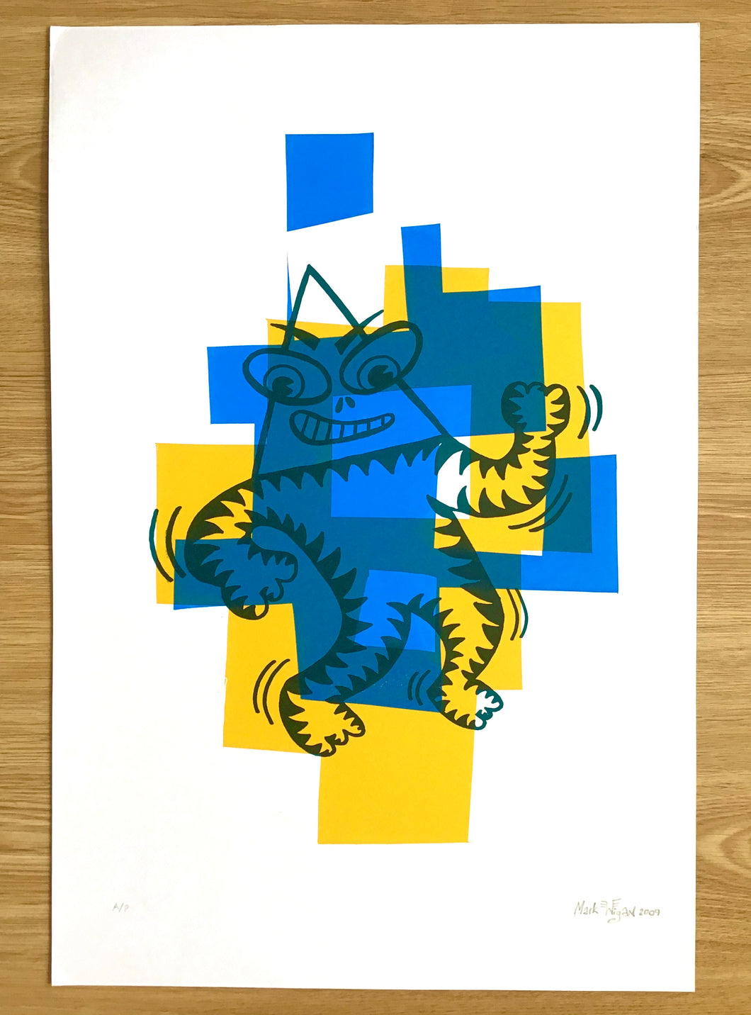 Mr Funk artist proof screenprint 2009