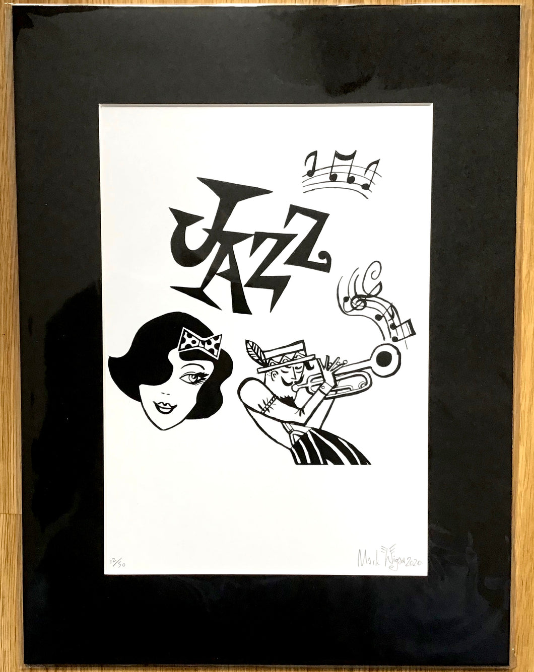 Paris Jazz signed print