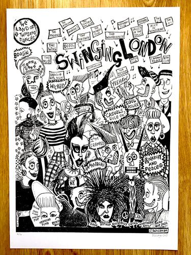 swinging london 1985 print