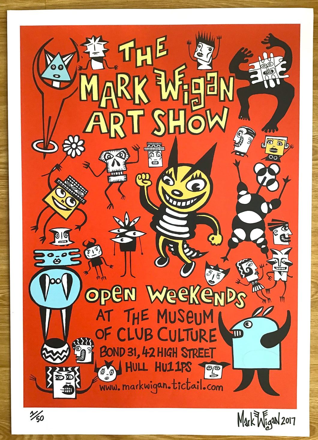 Mark Wigan Art Show signed poster 2017
