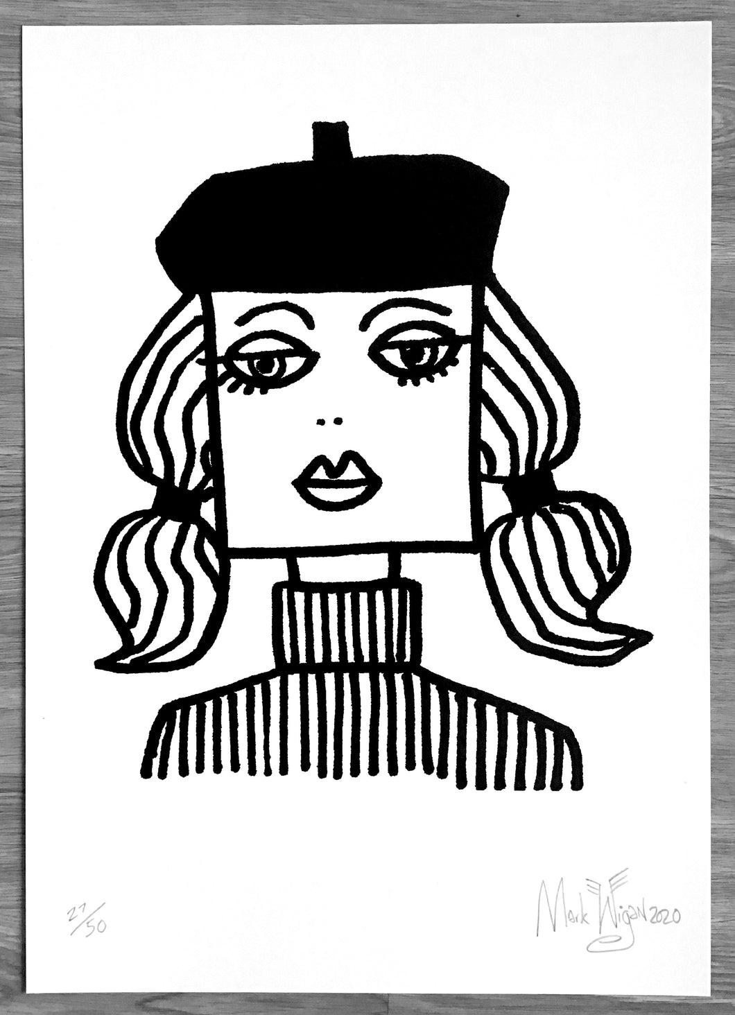 BEATNIK GIRL signed limited edition print