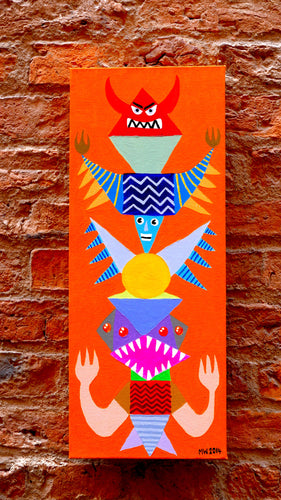 Totemic 3 (2014) painting