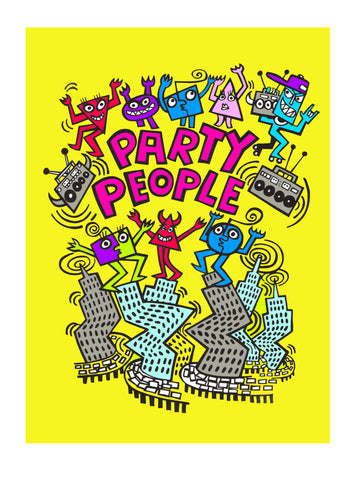 PARTY PEOPLE Giclee print