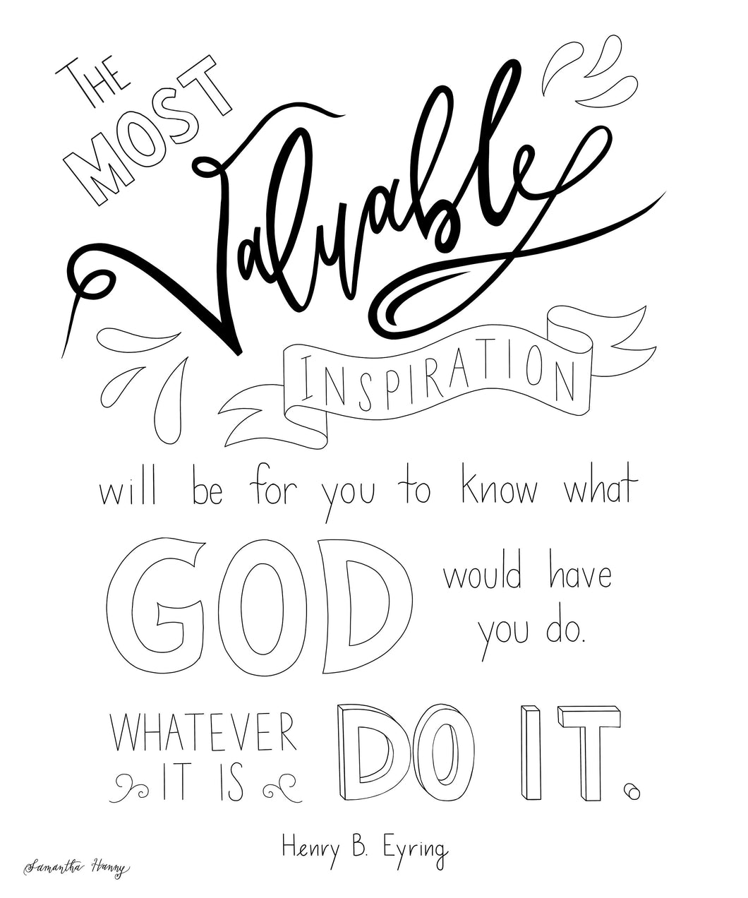 Printable Coloring Pages Henry B Eyring Quote