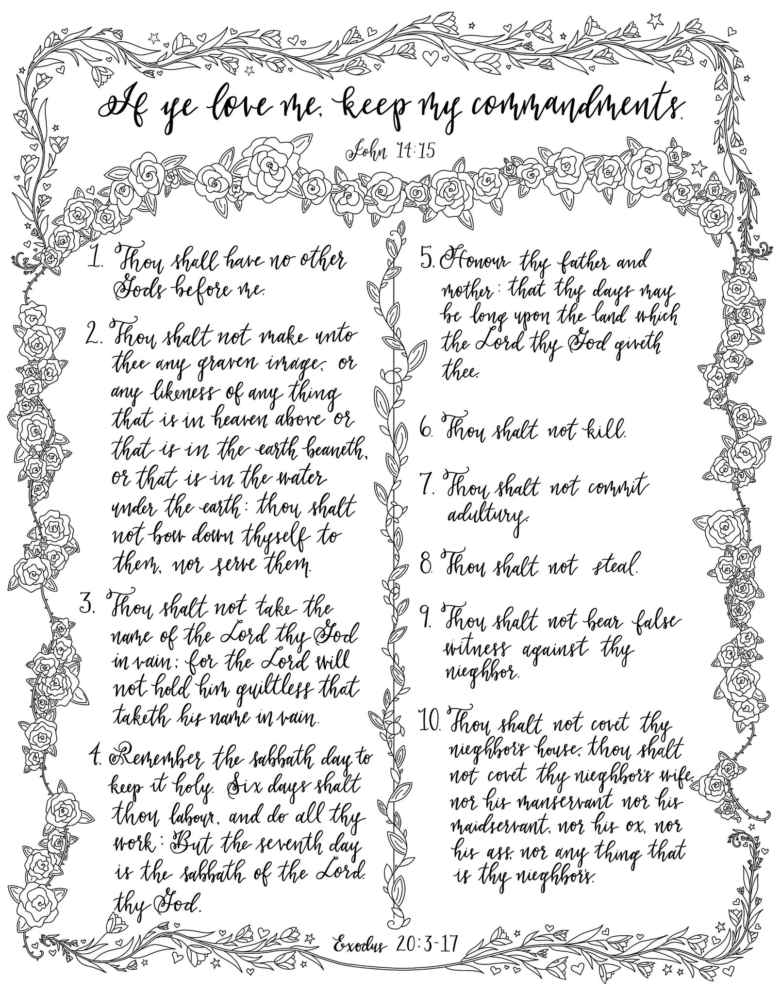 picture about The Ten Commandments Printable called Printable Coloring Web pages- The 10 Commandments