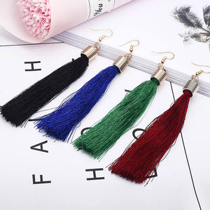 New Bohemian Style Tassel Long Silk Hanging Earrings - Wish.N Dreams