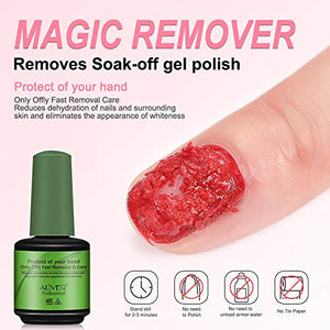 Magic Nail Polish Remover 2 Pack,Soak-Off Gel Nail Polish In 3-5 Minutes - Wish.N Dreams
