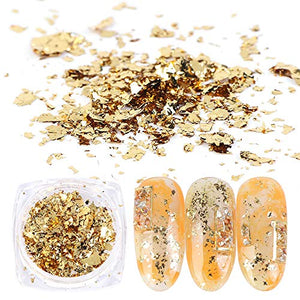 Gold Nail Glitters 8 Colors Metallic Nail Art Sequins - Wish.N Dreams