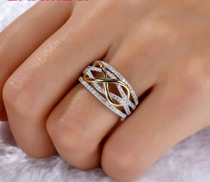 Solid 925 Sterling Silver Rings  Hollow-out Number 8 Infinity Love - Wish.N Dreams