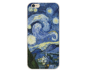 Phone Case for iPhone  Case Van Gogh Starry Night Soft Case - Wish.N Dreams