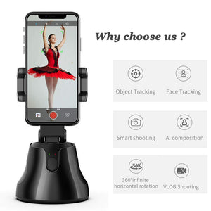 All-in-one Auto Smart Shooting Selfie Stick   360 Rotation  Camera Phone Holder - Wish.N Dreams