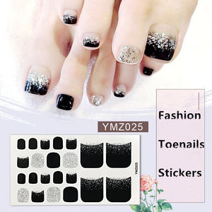 Glitter Toenail Art Polish Stickers  Adhesive Wraps - Wish.N Dreams