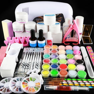 Acrylic Nail Powder Set Liquid Glitter Gel Polish Nail Decorations Tools Nail Kit - Wish.N Dreams