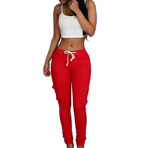 Plus Size Pants New Spring Casual Skinny Pencil Pants Waist Drawstring - Wish.N Dreams