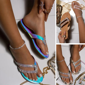 Summer Beach Sandals Crystal Beach Sliders Casual Slippers - Wish.N Dreams