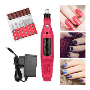 ATOMUS Electric Manicure Nail  Drill Bits Milling Adjustable Speed 20000 RPM Professional Kit - Wish.N Dreams