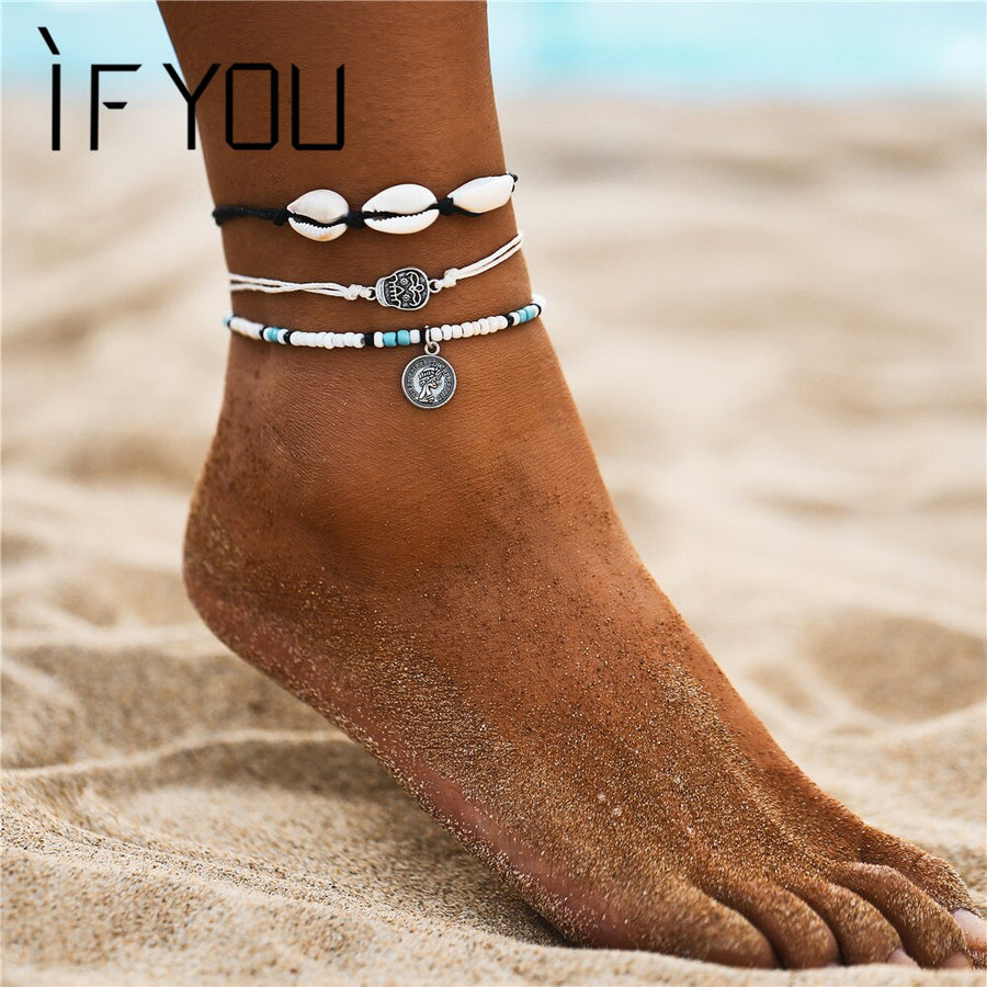 Bohemia Multilayer Anklets  Boho Style - Wish.N Dreams