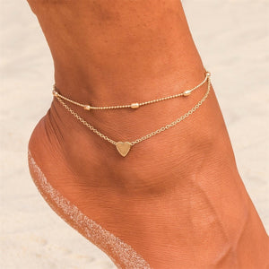 Boho Anklets  Foot Barefoot Heart Turtle arrow charm  Ankle - Wish.N Dreams