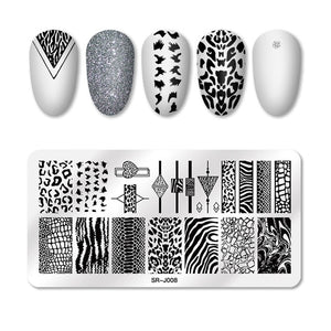 Nail Stamping Plates Butterfly Pattern Nail Art Image Stamp Stencils Templates - Wish.N Dreams