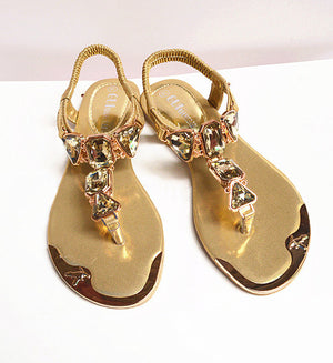 Hot fashion rhinestone summer shoes woman elastic band clip toe sandals - Wish.N Dreams