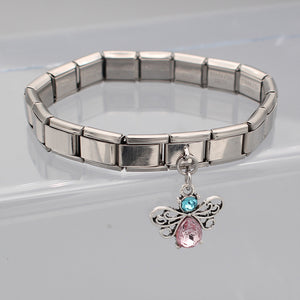 9mm Width Original Daisy Butterfly Rhinestone Italian Charm Fit 9mm Bracelet Stainless Steel - Wish.N Dreams