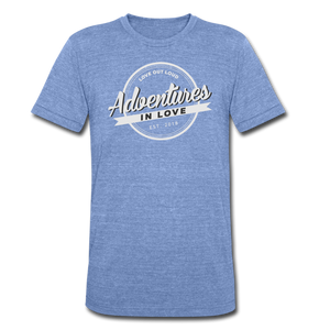 Adventures Unisex Tri-Blend T-Shirt - heather Blue