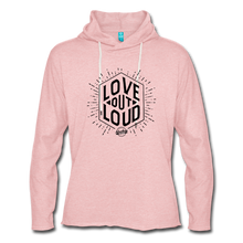 Load image into Gallery viewer, LOL Unisex Lightweight Terry Hoodie - cream heather pink
