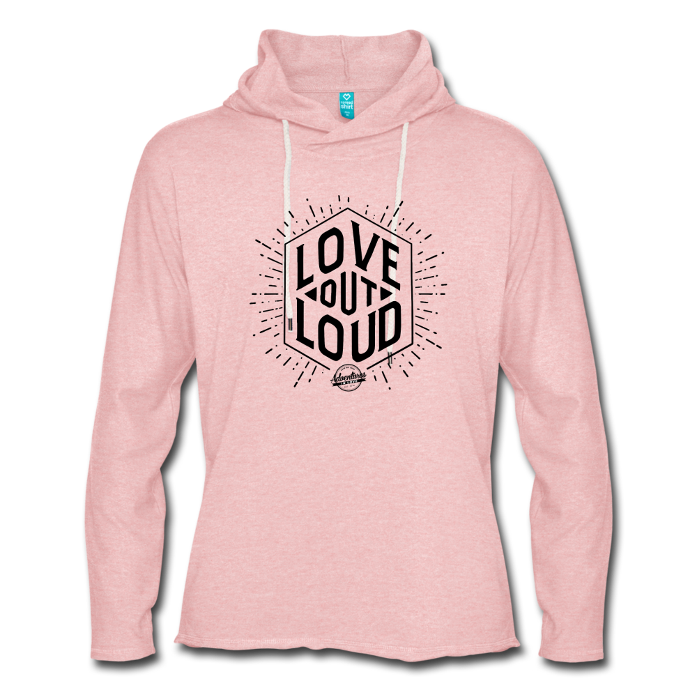 LOL Unisex Lightweight Terry Hoodie - cream heather pink