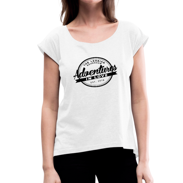 Women's Roll Cuff T-Shirt - white