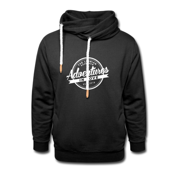 The Lesbian Roadshow Shawl Collar Hoodie - black