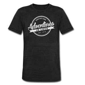 Adventures Unisex Tri-Blend T-Shirt - heather black