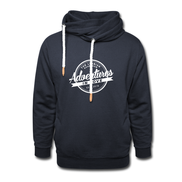 The Lesbian Roadshow Shawl Collar Hoodie - navy