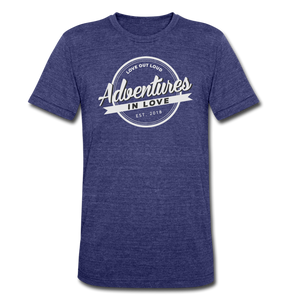 Adventures Unisex Tri-Blend T-Shirt - heather indigo