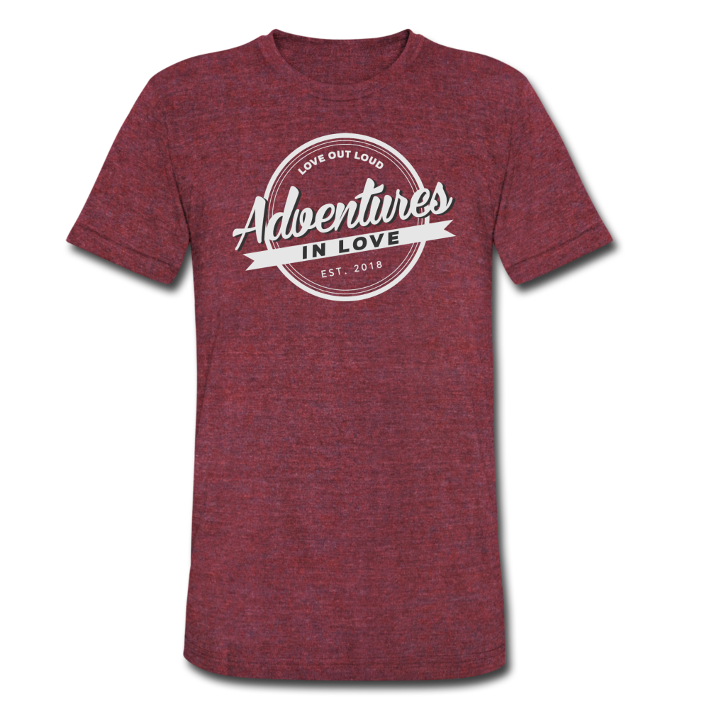 Adventures Unisex Tri-Blend T-Shirt - heather cranberry