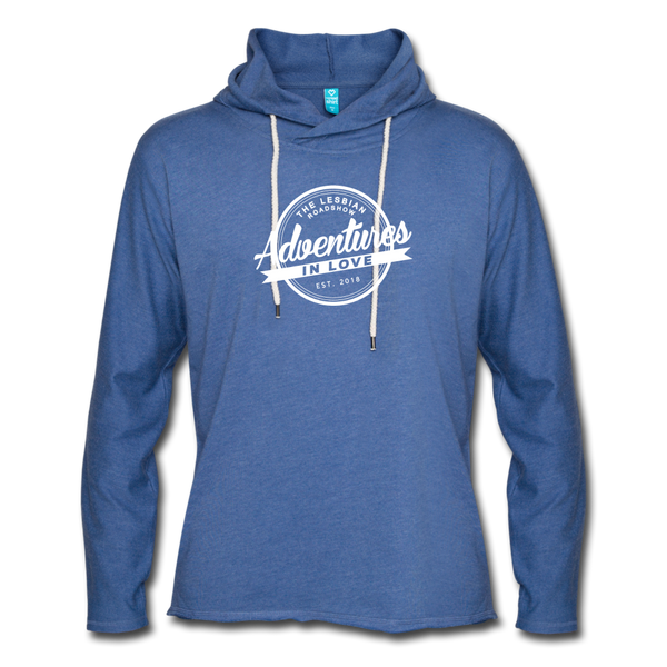 The Lesbian Roadshow Lightweight Terry Hoodie - heather Blue