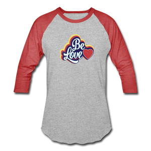 Be Love Baseball T-Shirt - heather gray/red