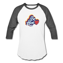 Load image into Gallery viewer, Be Love Baseball T-Shirt - white/charcoal