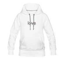 Load image into Gallery viewer, Rainbow Love Premium Hoodie - white
