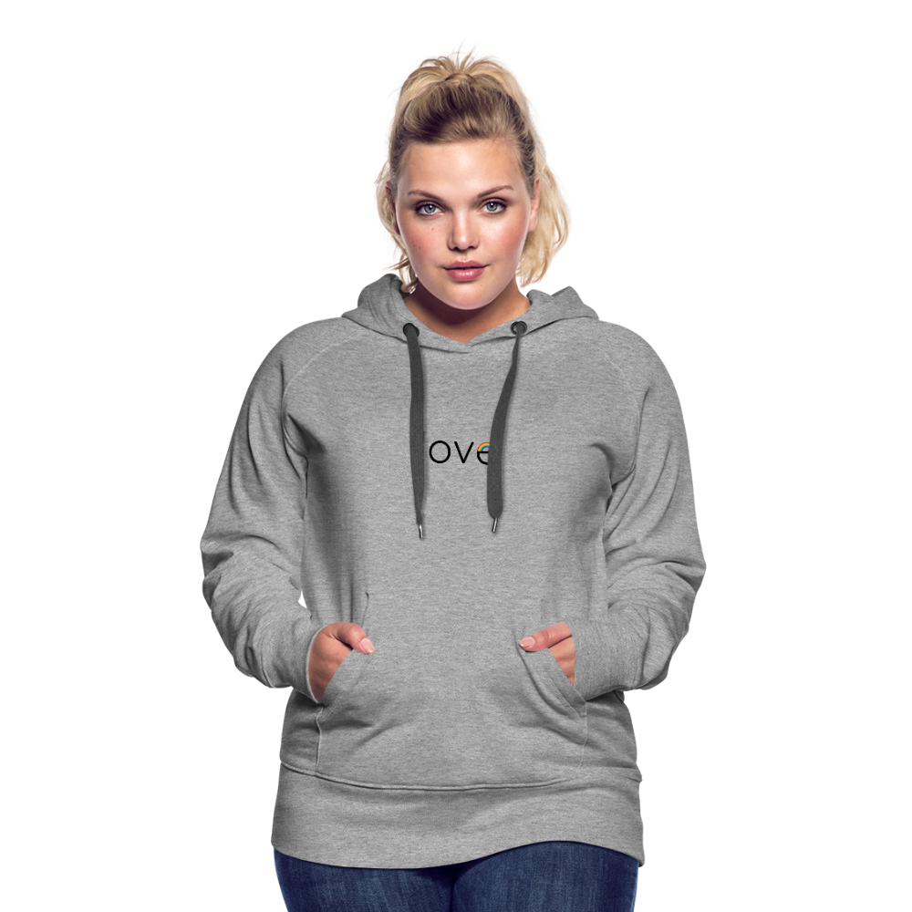 Rainbow Love Premium Hoodie - heather gray