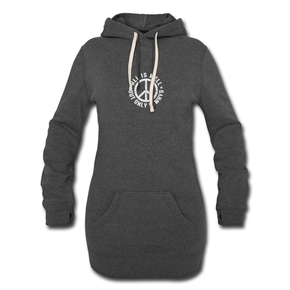 All is Well Women's Hoodie Dress - heather black