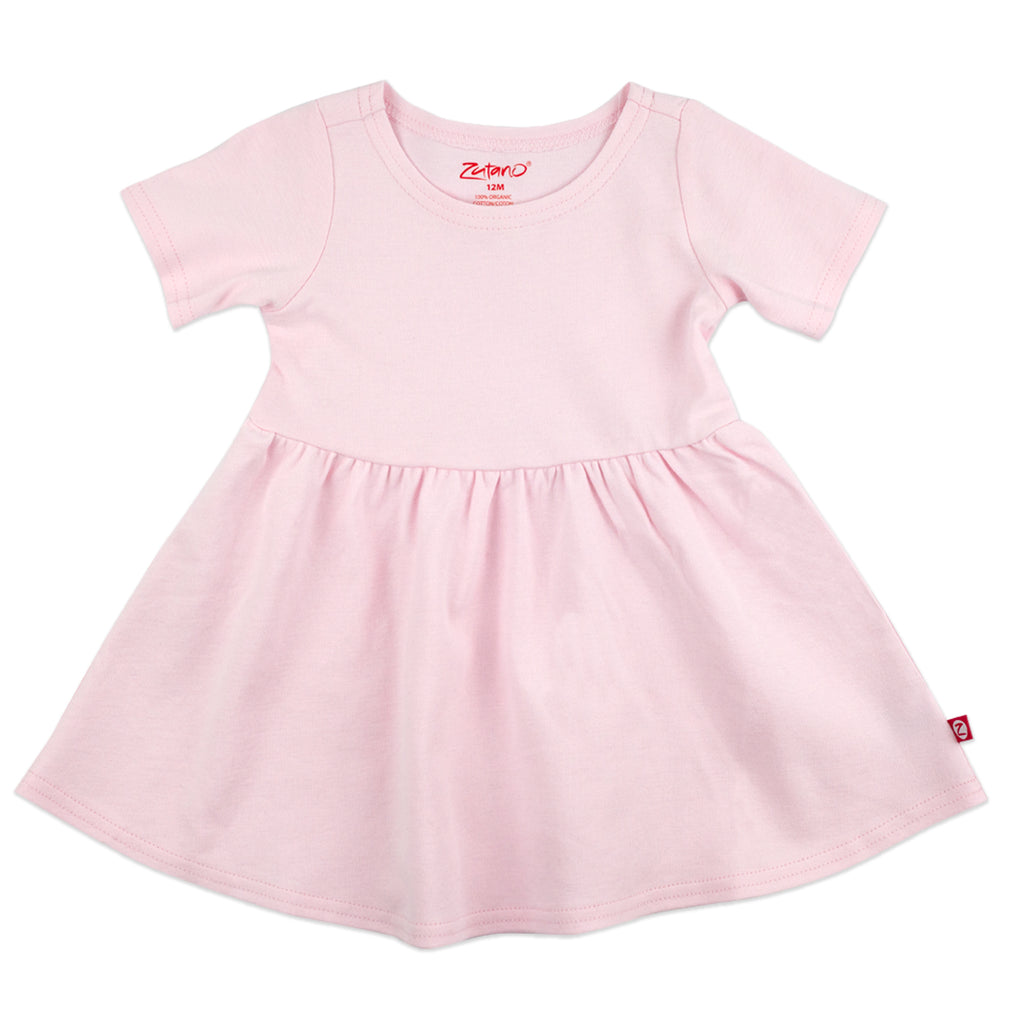 Organic Cotton Forever Dress - Baby Pink