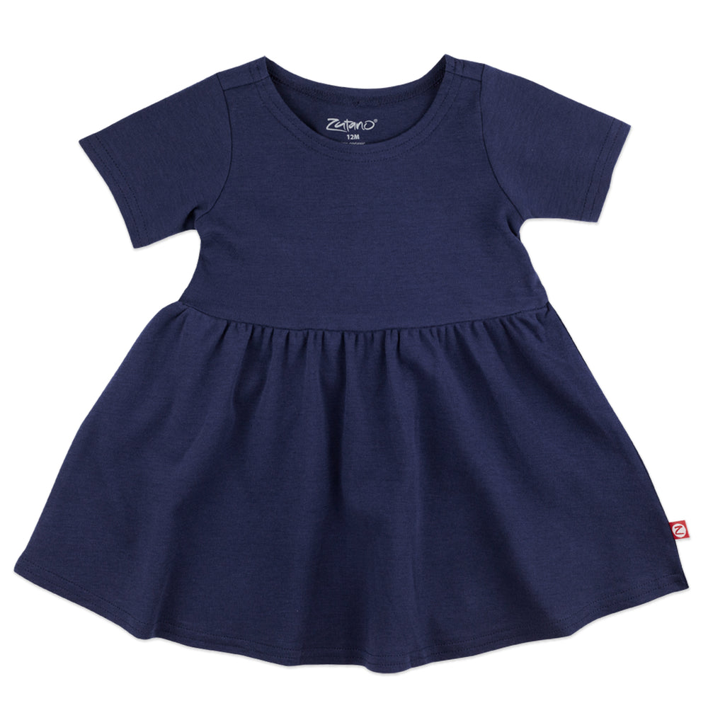 Organic Cotton Forever Dress - True Navy