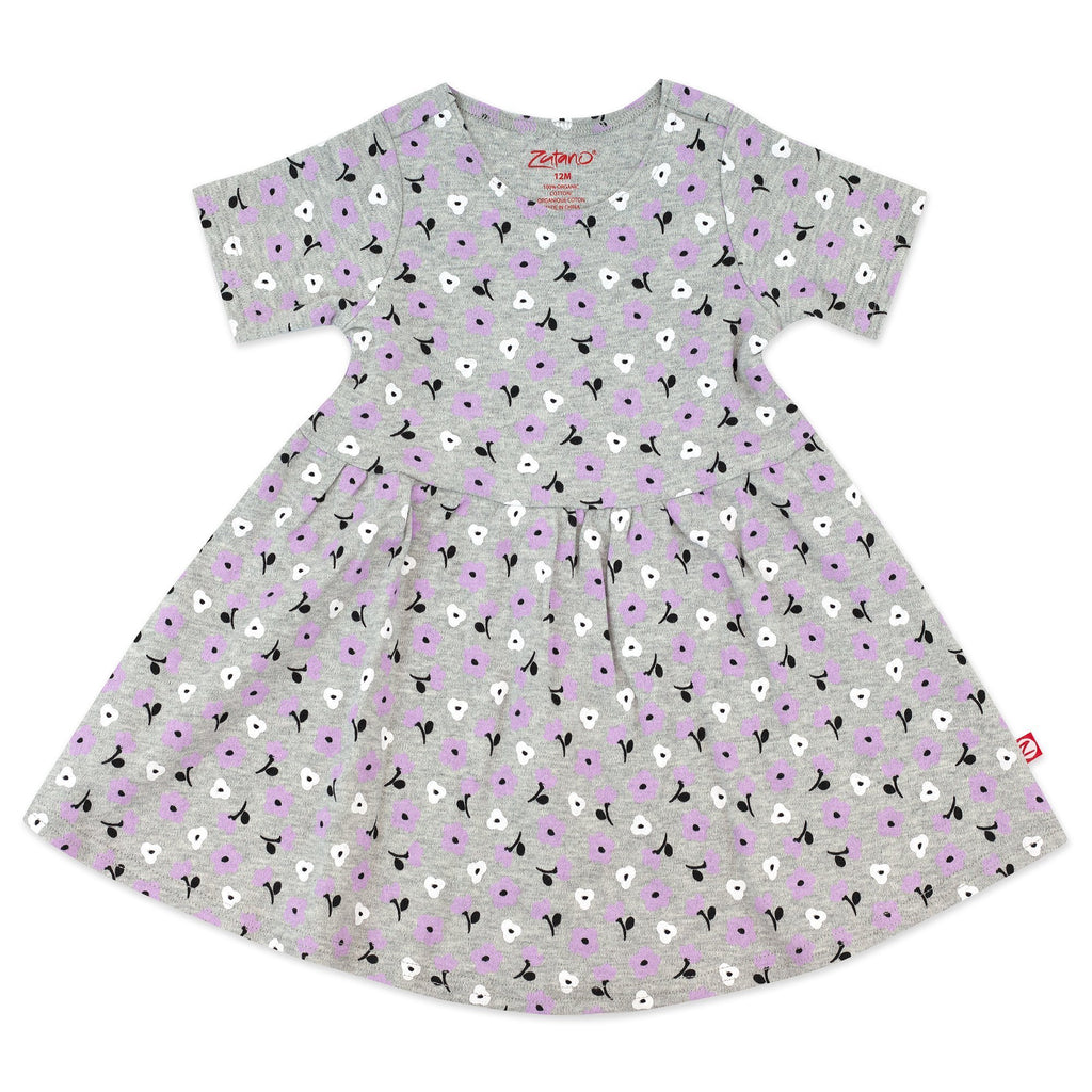 Zutano baby Dress Heather Primrose Organic Cotton Forever Dress