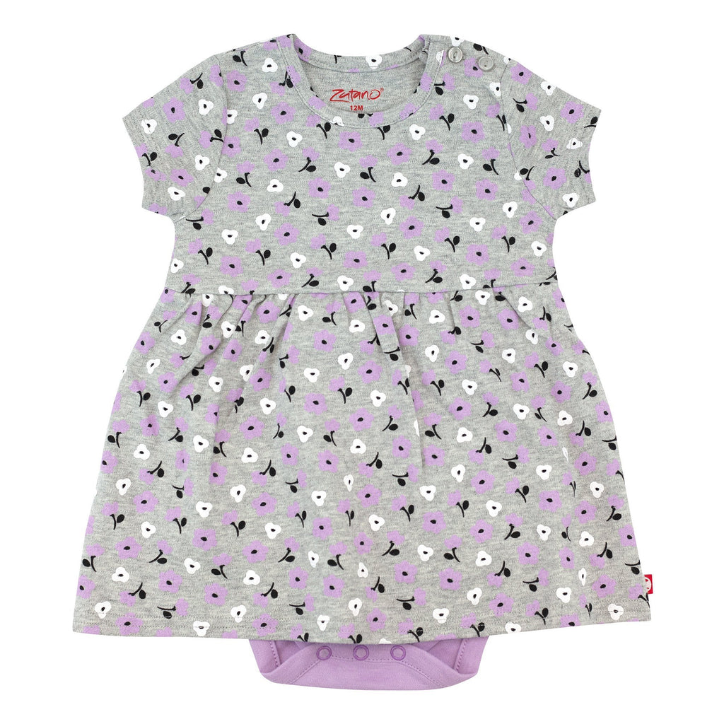 Zutano baby Dress Heather Primrose Organic Cotton Romper Dress