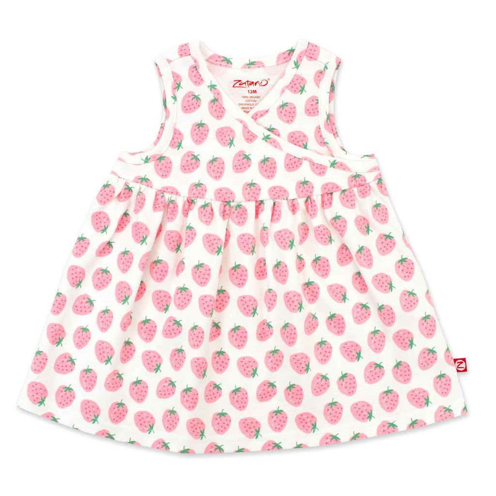 Zutano baby Dress Strawberry Organic Cotton Surplice Dress