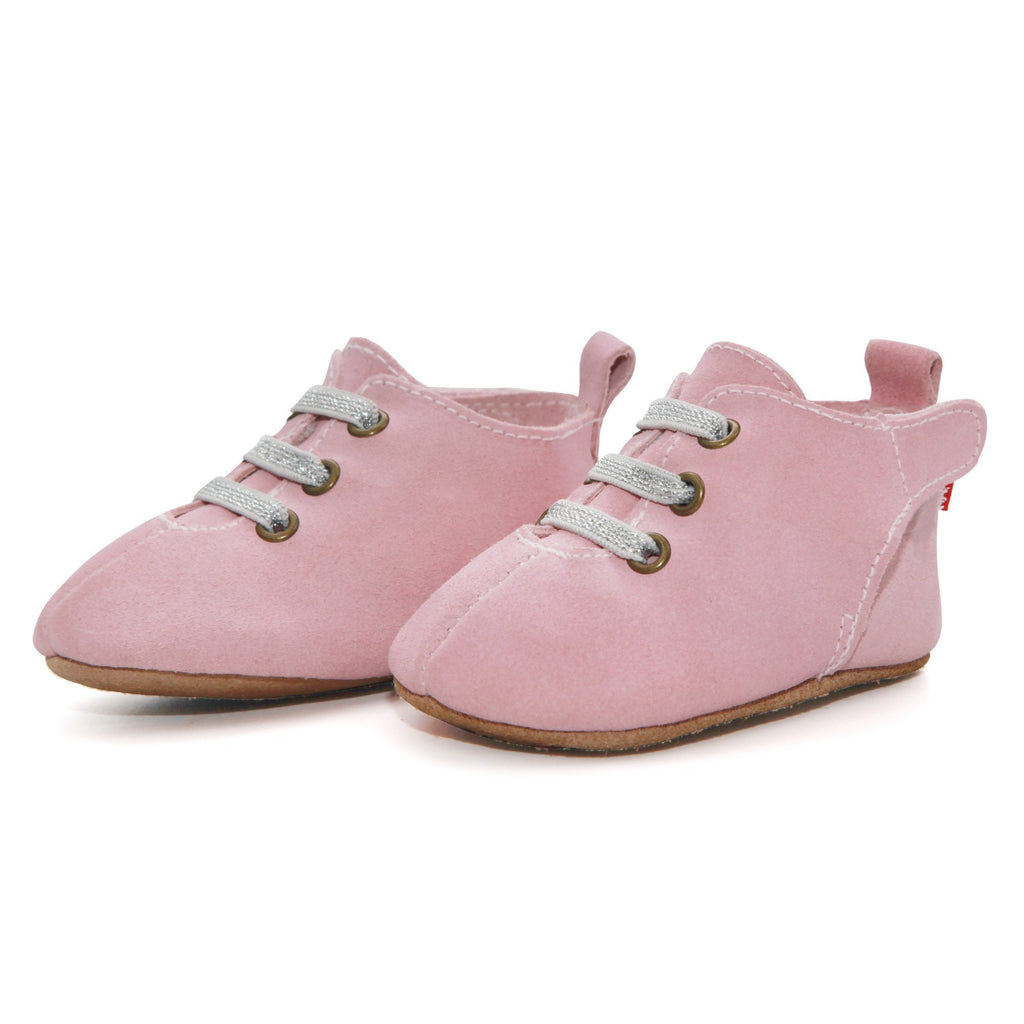 Zutano baby Shoe Hot Pink Suede Leather Oxford Baby Shoe