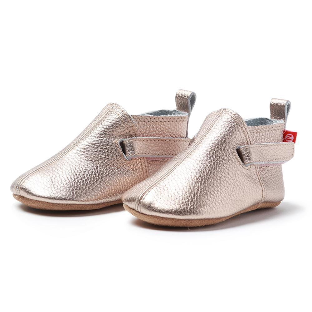 Zutano baby Shoe Rose Gold Leather Baby Shoe