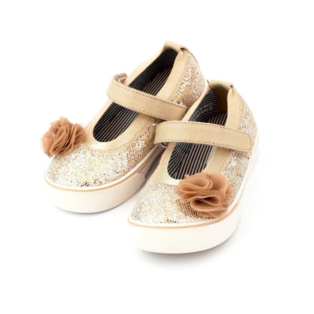 Zutano Shoe Dazzle Mary Jane Girls Shoe - Gold